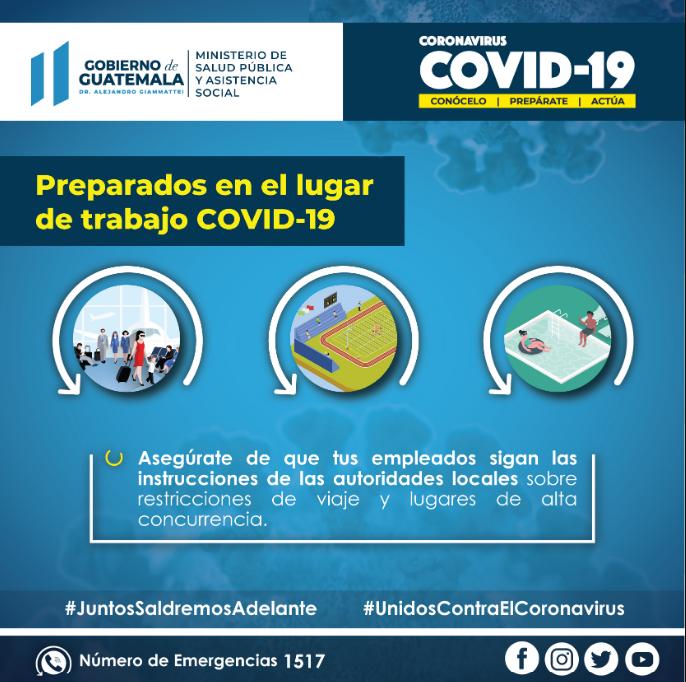 Recomendaciones en el Trabajo para prevenir el Contagio del Covid-19