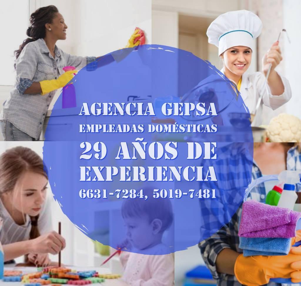 Servicio de Personal Doméstico, Agencia GEPSA, 29 años de experiencia