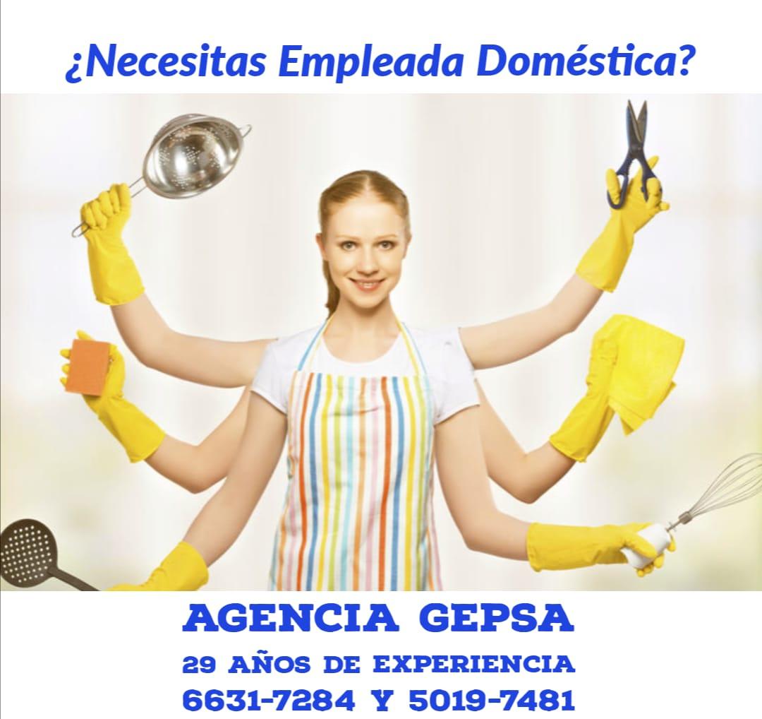 Servicio de Empleadas Domésticas, Agencia GEPSA, 29 años de experiencia
