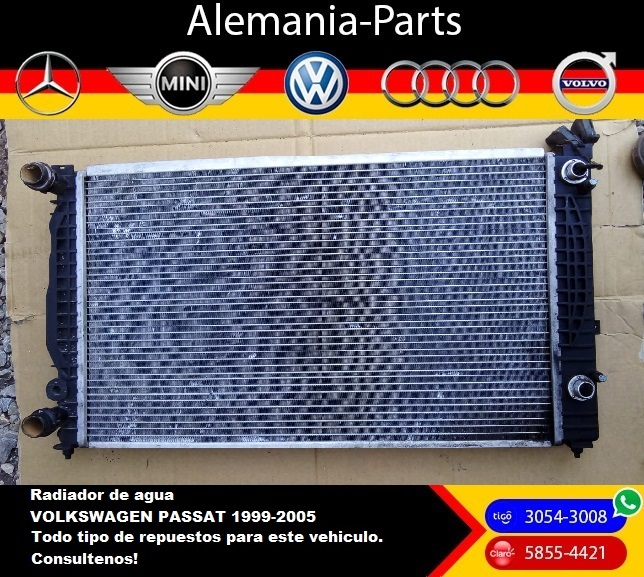 Radiador de agua para Volkswagen Passat 1999 - 2005