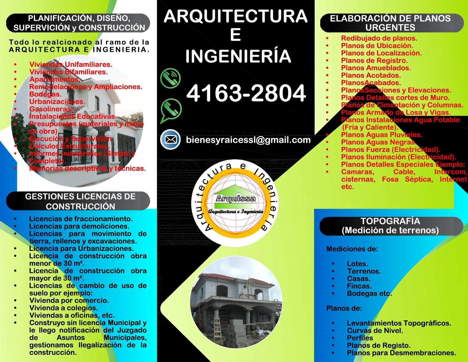 ESTUDIOS IMPACTO AMBIENTAL, SALUD, PLANOS URGENTES, TRAMITES MUNI, ETC