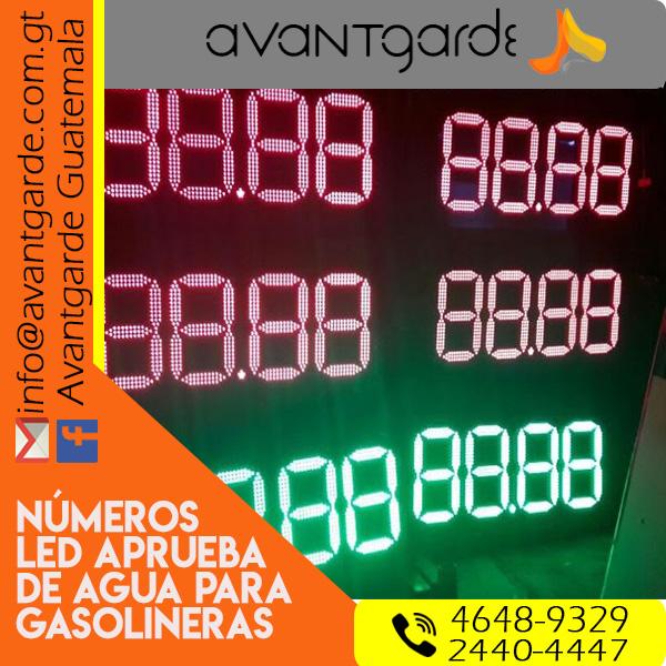 Numeradores LED digitales a control remoto Gasolineras Guatemala