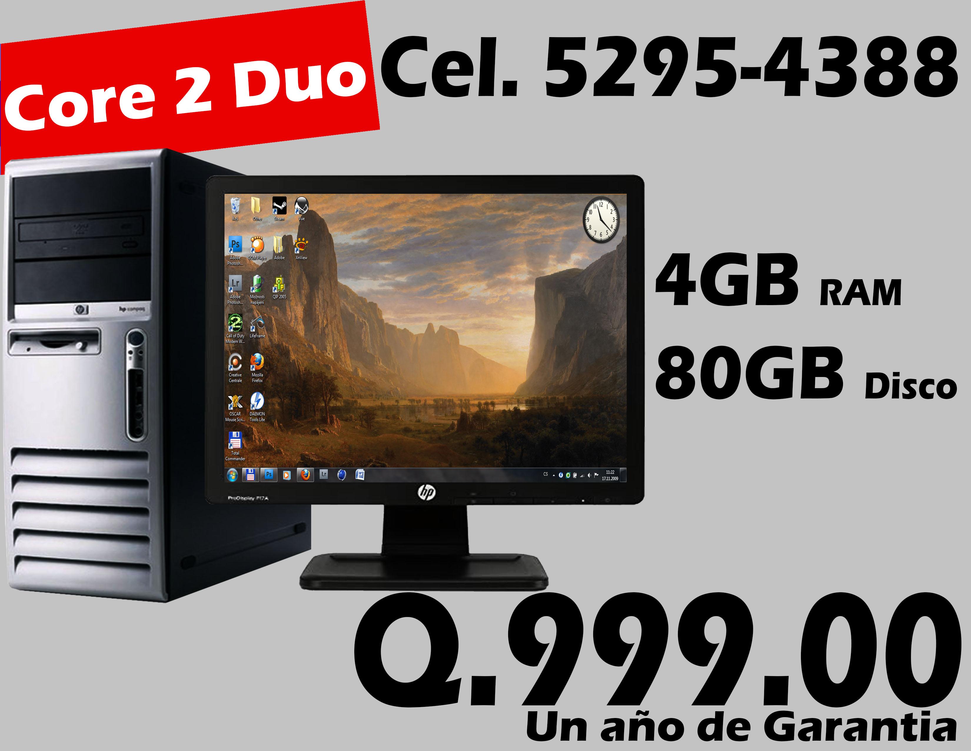Computadora HP DC7700 Core 2 duo en promocion