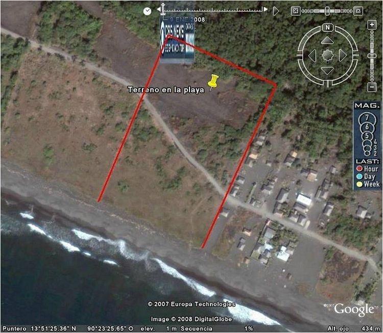 Terreno en venta en orilla de Playa de Escuintla