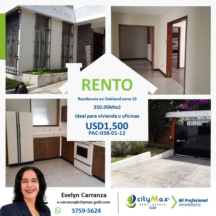 Casa en Renta en zona 10 ideal para oficinas!!1