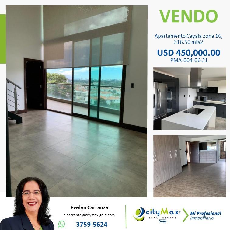 Apartamento en venta zona 16 Cayala