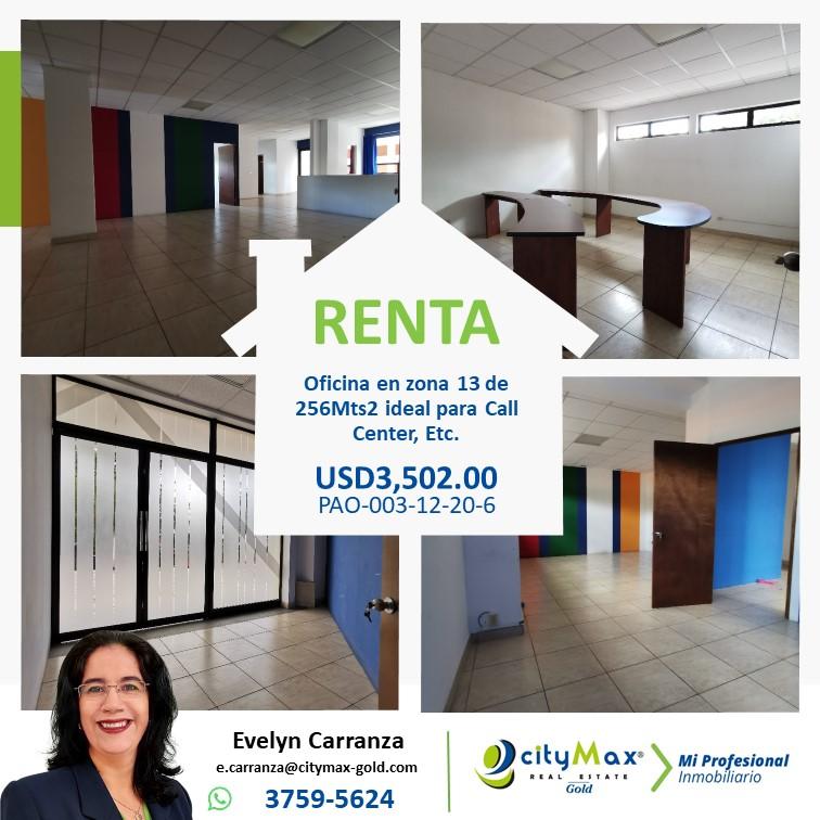 OFICINA COMERCIAL EN RENTA ZONA 13