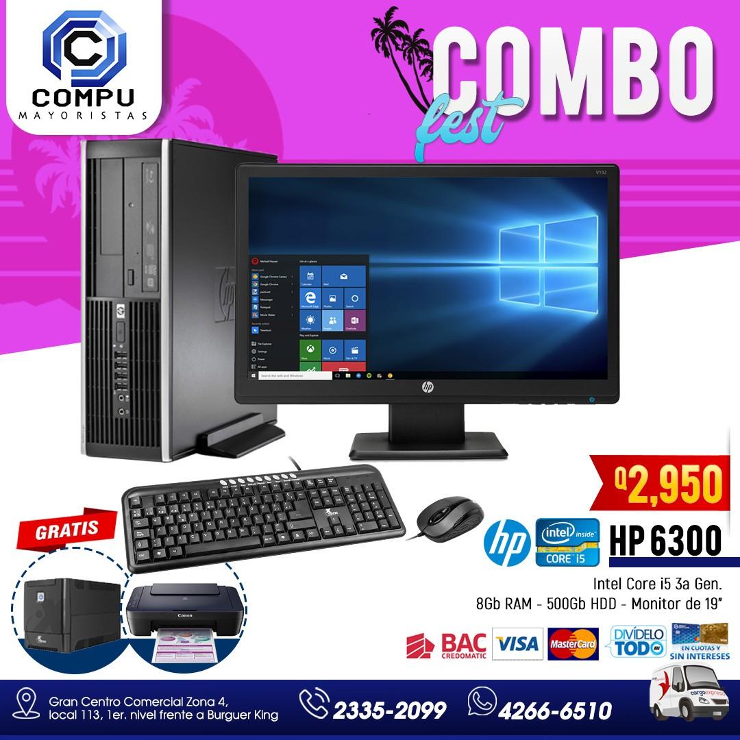 Computadoras HP Línea 6300 Procesador Core i5 de 3a. Generación