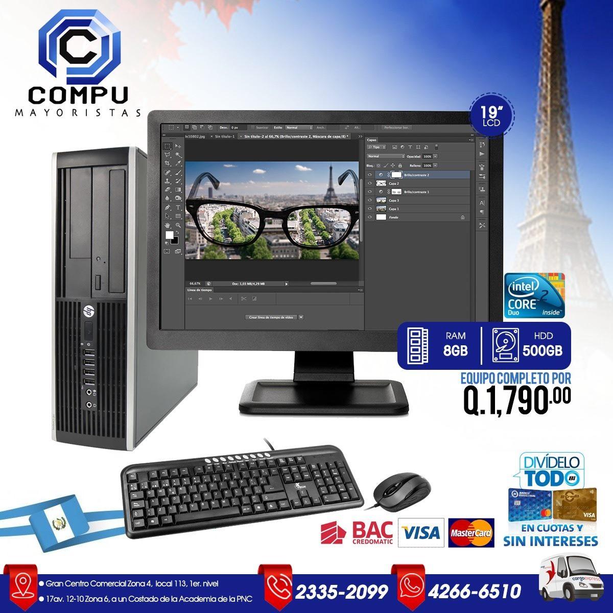 Computadoras completas Q. 1,790.00