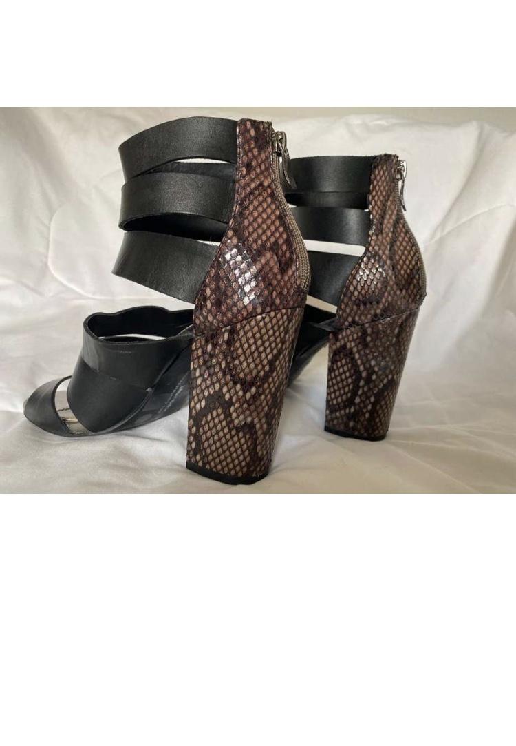 Zapatos altos de animal print