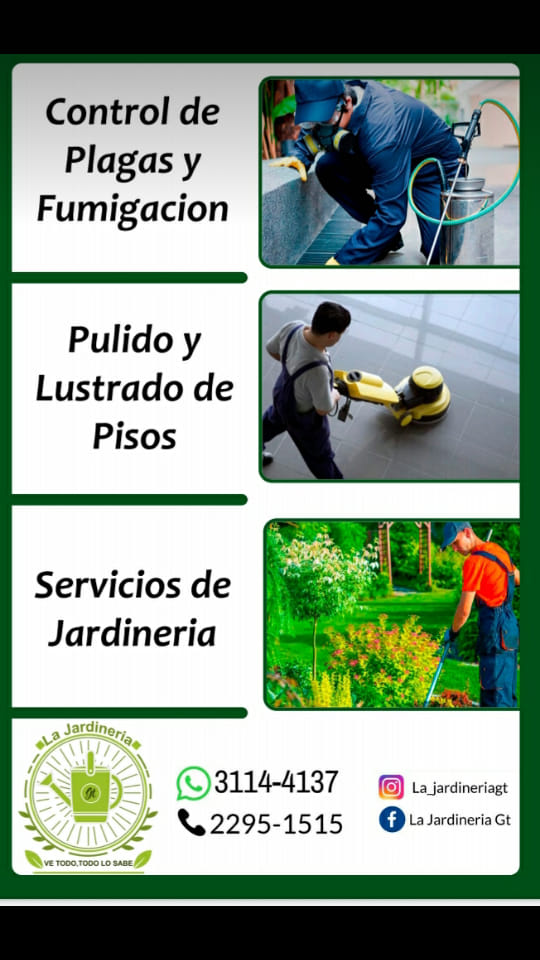 Servicios de Jardineria, fumigacion en casa y pulido de pisos