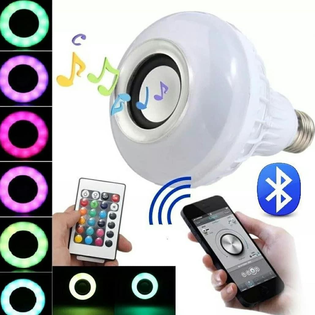 Bombilla LED con altavoz por bluetooth